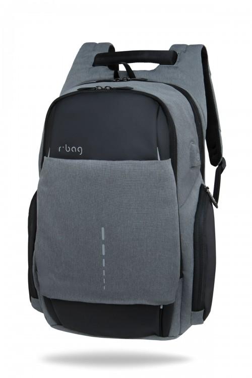 Męski plecak na laptopa13-15,6'' z USB Drum Gray