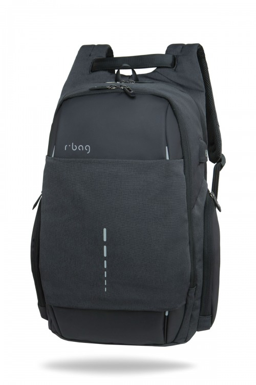 Plecak męski na laptopa 13-15,6'' z USB Drum Black