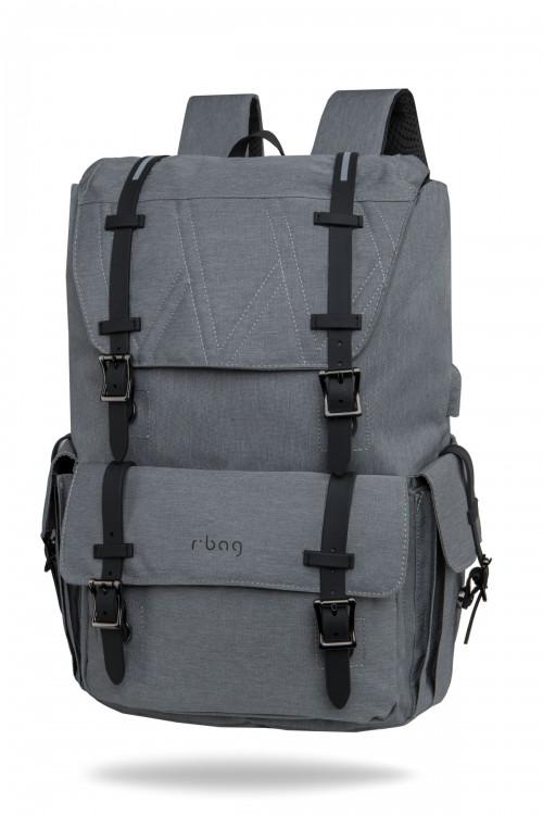 "Plecak męski na laptopa 13-15,6"" z USB Packer Grey"