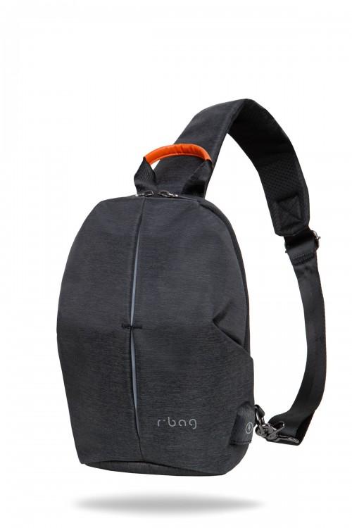 Plecak męski na jedno ramię z USB Photon Black