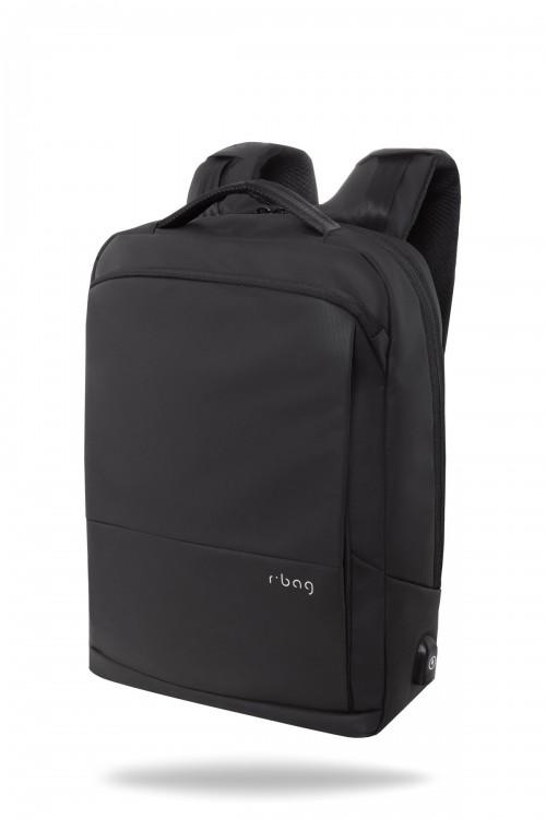 """Plecak męski na laptopa 15"""" z USB Vector Black"""